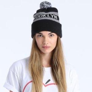 American Apparel Brooklyn Pom Pom Hat Black Unisex